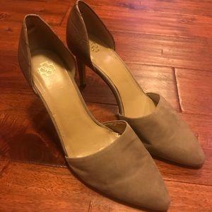 Ann Taylor heels crocodile and suede